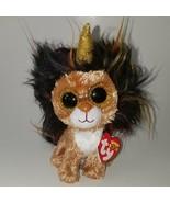 NEW Ramsey TY Beanie Boos Plush Brown Unicorn Lion Gold Horn - $9.85