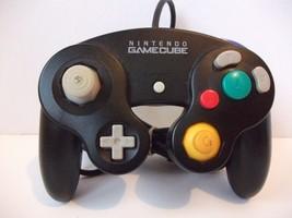 Genuine OEM Black Nintendo Gamecube Controller DOL-003 Tested Works - $28.15