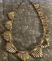 Vintage Gold Toned Necklace Signed Coro 16 inches long - $24.75