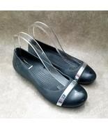 Crocs Womens   Sz 7 M Black Slip On Cap Toe Ballet Flats - $26.99