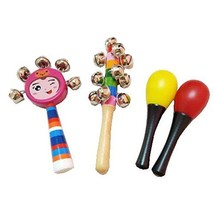 4 Pcs Sand Hammer Lovely Pastic Kids Rattles Toys Set Gift for 0 to 1 Year Old