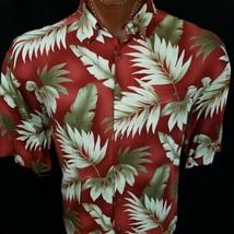 Hawaiian Shirt Men's Flower Leaf Beach Aloha Casual Holiday Short Sleeve XL - $24.00
