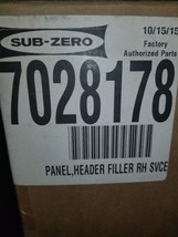 Sub Zero 7028178 Panel Header Filler - $123.75