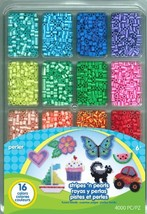 Perler Beads Stripes And Pearls Assorted Fuse Beads Tray For Kids Crafts... - $16.04