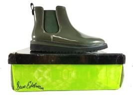 Sam Edelman Woman's Rain Boots Size 9 M Dark Green Kallum Side Gore - $51.65