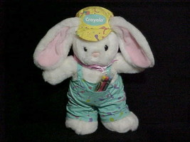 """14"""" Hallmark Crayola Bunny Stuffed Toy With Packet of Crayons From 1990 - $59.39"""