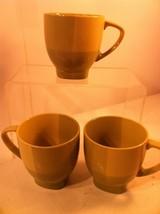 222 FIFTH  COLOR BLOCKS  GREEN---3 COFFEE MUGS -FREE SHIP--VGC - $26.95