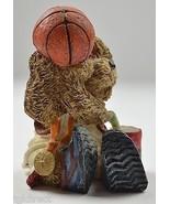 "James Alex Basketball Bear Figurine 4"" Tall Decorative Collectible Resin... - $9.99"