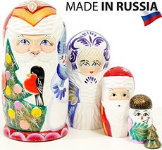 craftsfromrussia Santa and Friends - Russian Nesting Doll - Hand Painted... - $41.24