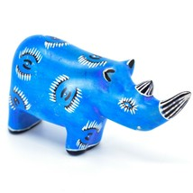Hand Carved Kenyan Kisii Soapstone Kifaru Blue Rhinoceros Rhino Figurine image 1
