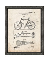 Mechanical Movement for Bicycles Patent Print Old Look with Black Wood F... - $24.95+