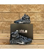 NIKE LEBRON 12 GS 'BHM' KIDS BLACK/METALLIC SILVER BASKETBALL SHOE 72621... - $210.38