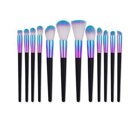 Professional Rainbow Eyeshadow Makeup Brush Set