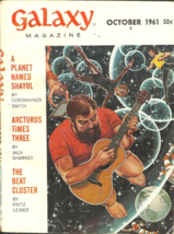 GALAXY MAGAZINE October 1961 - ROBERT BLOCH, FRANK HERBERT, FRITZ LEIBER... - $13.00