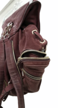 ALEXANDER WANG Marti Lambskin Leather Backpack Rare Burgundy Purse Bag image 6