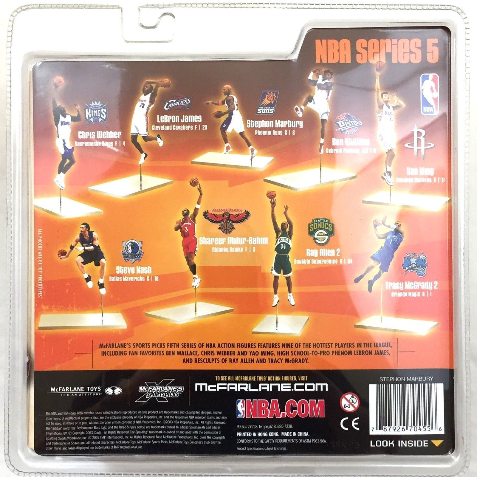 McFarlane Series 5 Stephon Marbury Phoenix Suns Variant