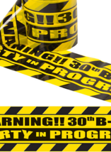 Over The Hill Birthday Party Decorations; Caution Tape Decorations; 30th... - $5.93+