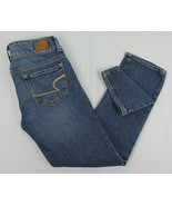 American Eagle Stretch jeans Artist Cropped Capri pants Blue Womens Size 0 - $12.82