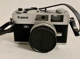 Vintage CANON QL 17 FILM CAMERA 40mm 1:1.7 Lens Leather Case Quick Load ... - $395.99