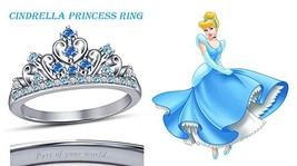 Women's 14k White Gold Plated 925 Silver Disney Princess Cinderella Crow... - £41.97 GBP