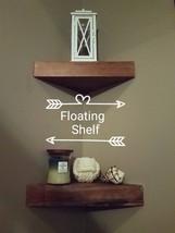 Floating Shelf - Rustic Wooden suspended corner storage - $30.00