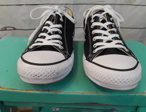Converse Chuck Taylor All Star Black Low Top  M9166 Canvas Size 13