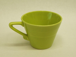 Vintage Harlequin Tea Cup Chartreuse Green Homer Laughlin China 1950's c... - $8.00