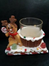 Yankee Candle Gingerbread Reindeer Votive Holder Christmas Holiday Sled ... - $12.82