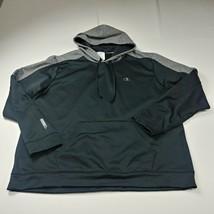 Champion Mens Hoodie Sweatshirt 2XL XXL Gray Solid Pullover Powertrain A... - $25.28