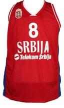 Nemanja Bjelica #8 Serbia Basketball Jersey New Sewn Red Any Size image 1