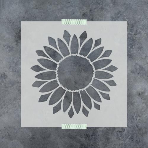 Sunflower Stencil - Durable & Reusable Mylar Stencils
