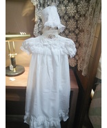 Baby Christening Gown with Bonnet Size 3 mo by Something Pretty - $28.00