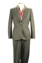 Talbots Career Brown Suit Womens Jacket Petites Size 2 Trouser Size 4  W... - $46.71