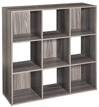 ClosetMaid 4167 Cubeicals Organizer, 9-Cube, Natural Gray - $62.02