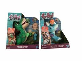 FurReal Munchin T-Rex/Hoppin Topper Dinosaur Set Interactive Pet Toys So... - $99.99