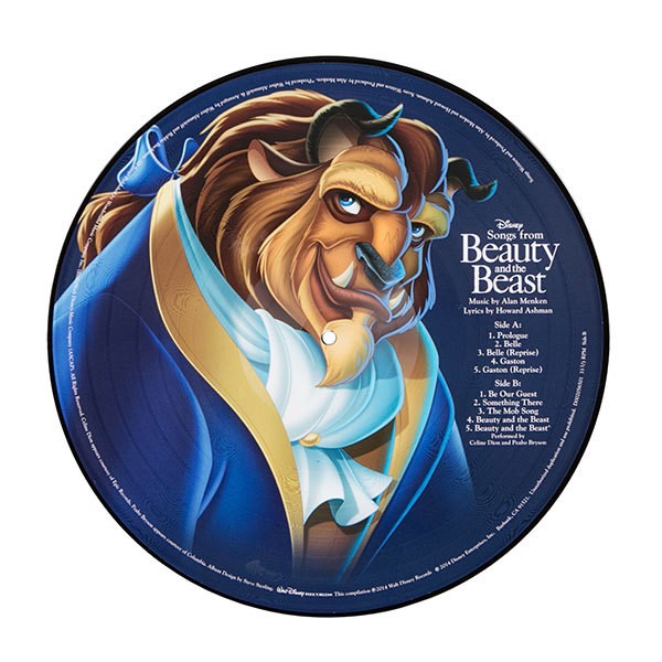 Beauty And The Beast Animated Movie Vinyl Record Soundtrack 1xLP Belle Disney