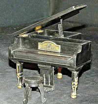 Grand Piano with Stool Music Box  AA20-2448 Vintage