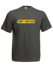 'I967 VINTAGE' Number Plate Birthday Car Graphic Design Quality t-shirt ... - $13.44