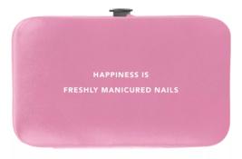 Trim Black Pink Nail Mani Emergency Grooming Kit Clippers Scissor Tweezer File image 8