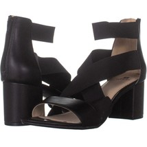 White Mountain Edie Strappy Ankle Zip Up Sandals 762, Black, 11 US - $27.83