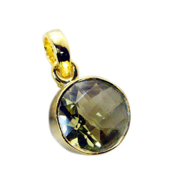 Primary image for handsome Lemon Quartz Gold Plated Yellow Pendant Glass general US