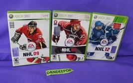 3 Microsoft XBox 360 EA Sports NHL Hockey Video Games Live 08, 09 and 12 - $17.81