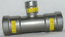 Viega MegaPress G 25366 Reducing Tee With HNBR Carbon Steel image 2
