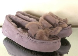 New UGG Ansley Pink Suede Bow Women's Slippers 1113470 Size 5 - $65.45