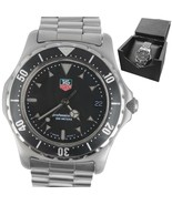 Men's TAG Heuer Professional 973.006 R-2 Stainless 41mm Black Date Watch - $593.95