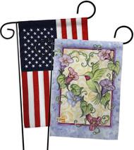 Hummingbird with Trumpet Flowers - Impressions Decorative USA - Applique Garden  - $30.97