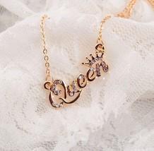 Queen Necklace, Pendant, Princess Crown, Goldtone - $3.99
