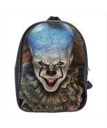 School bag pennywise clown scary it horror bookbag backpack 3 sizes - $38.00+