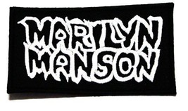 Marilyn Manson Patch Embroidered Iron on Hat Jacket Hoodie Backpack Idea... - $8.56