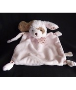 "Bearington Baby Pink Brown Puppy Dog Security Blanket Baby Lovey 7"" - $19.55"